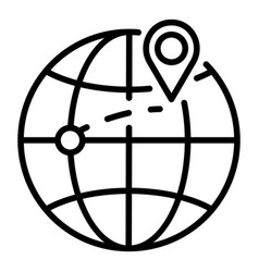 Destination export goods icon outline style vector
