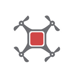 drone icon on white background for graphic and web vector image