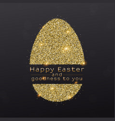 easter egg with design of greetings text vector image