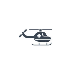 emergency helicopter related glyph icon vector image