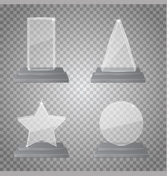 empty glass trophy vector image