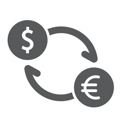 exchange glyph icon finance and banking currency vector image