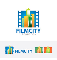 film city logo design vector image