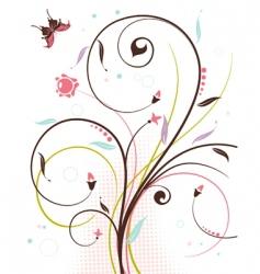 Floral theme vector