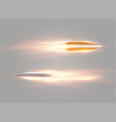 flying bullet with vector image