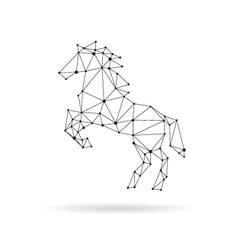 Geometric horse design silhouette vector