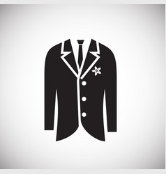 Groom tuxedo icon on white background for graphic vector