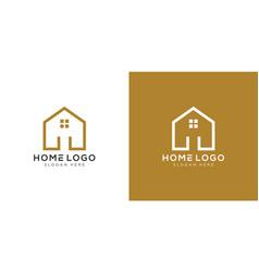home logo design template vector image