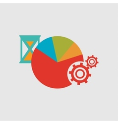 Hourglass Diagram and gears Internal mechanism vector