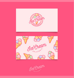 identity ice cream pink vector image