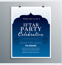 Iftar party celebration card design vector