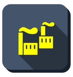 Industrial Pollution Longshadow Icon vector image