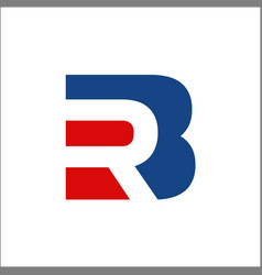 Initials letter rb or br logo vector