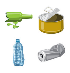 Isolated object environment and waste logo set vector