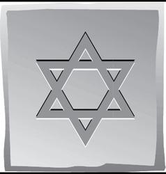 Jewish star vector image