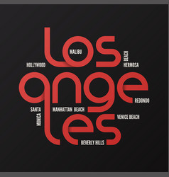 los angeles design typography print logo vector image