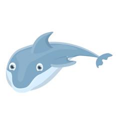 mammal dolphin icon cartoon style vector image
