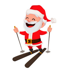 merry christmas funny santa claus vector image