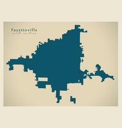 Modern city map - fayetteville north carolina vector