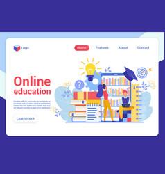 modern flat design concept online distance vector image