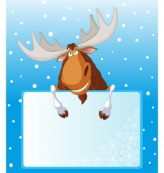 Moose place card vector