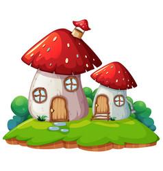 Mushroom home isolated scene vector