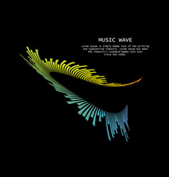 music wave player logo colorful equalizer element vector image