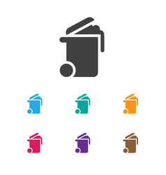 Of cleanup symbol on bin icon vector