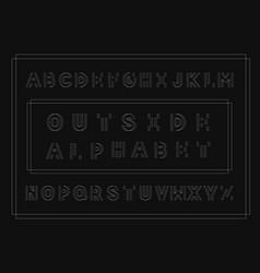 outside bold font alphabet vector image