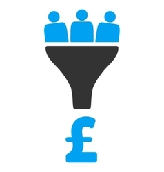 Pound Sales Funnel Flat Icon Symbol vector