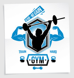 Power lifting competition poster created with of vector