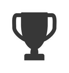 Prize cup trophy pictogram vector
