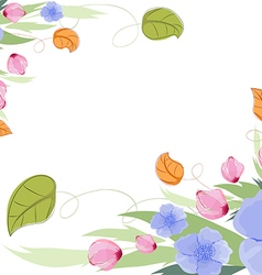 Purple roses pink petals watercolor vector