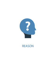 reason concept 2 colored icon simple blue element vector image