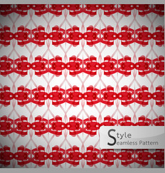 red mesh bow ribbon geometric seamless pattern vector image