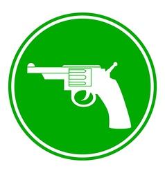 Revolver button vector