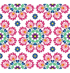Seamless floral Polish folk art pattern - Wzory Lo vector image
