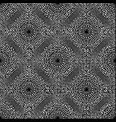 Seamless geometrical flower mandala pattern vector