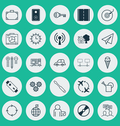 set 25 universal editable icons can be used vector image
