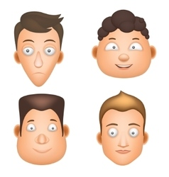 Set cartoon man face vector