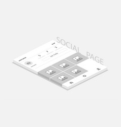 social network photo frame with shadow profile vector image