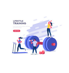 sports leisure gym banner vector image