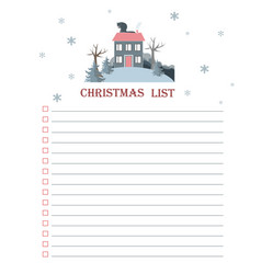 template for christmas to do list with flat vector image