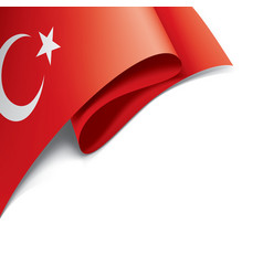 turkey flag on a white vector image