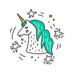Unicorn llustration vector