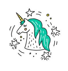 unicorn llustration vector image