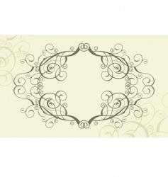 flourish frame vector image vector image
