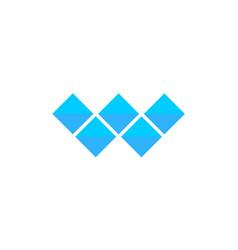 letter w logo alphabet mosaic icon set vector image vector image