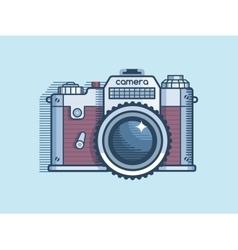 Camera retro flat design vector image