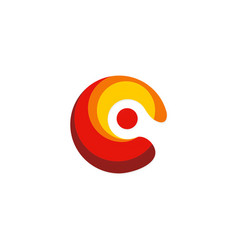 circle abstract colored point logo vector image
